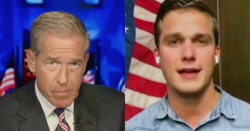 WATCH: Brian Williams Brutally Mocks Madison Cawthorn's Claim of Constitutional Right to Air Travel
