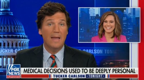 Tucker Carlson Defends Fox News Contributor Who Boasted She Won't Get Vaccinated: She's a 'Responsible Person'
