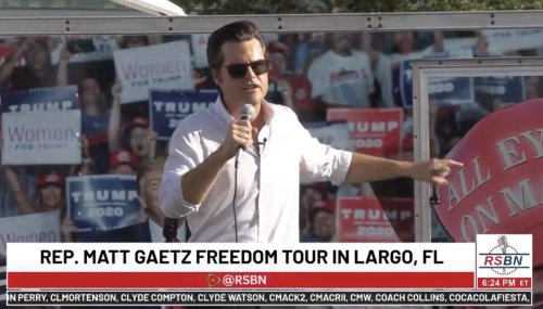 Matt Gaetz Jokes About Catching 'The Florida Variant' of Covid: 'It Affects The Brain'