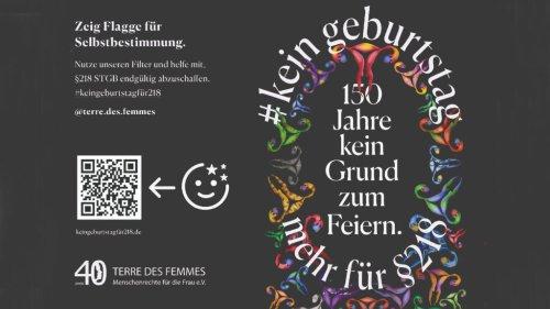 Terre des Femmes: Kein Geburtstag für § 218 BGB