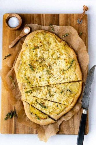 Schiacciata mit Kartoffeln & Käse (ohne Hefe)