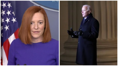 Press Secretary Says Biden Has 'Bigger Issues' After Being Caught Maskless on Federal Property - A Violation of His Own Executive Order