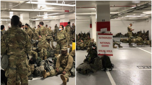Democrats Scramble to Save Face After National Guard 'Banished' to Parking Garage Following Biden Inauguration