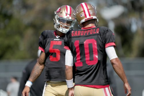 49ers training camp: Trey Lance stays hot with what Jimmy Garoppolo calls 'a different style'