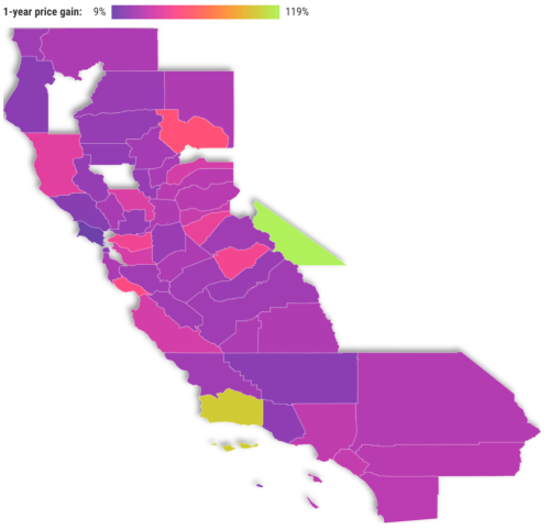 Mapped: How California home price jumped $26 every hour
