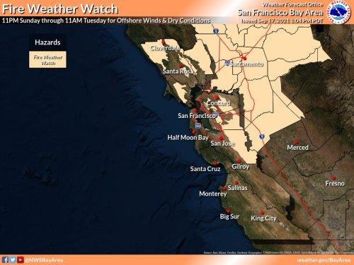 Fire weather watch to follow rain's return to Bay Area