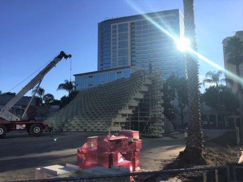 Curving entertainment pavilion takes shape in downtown San Jose