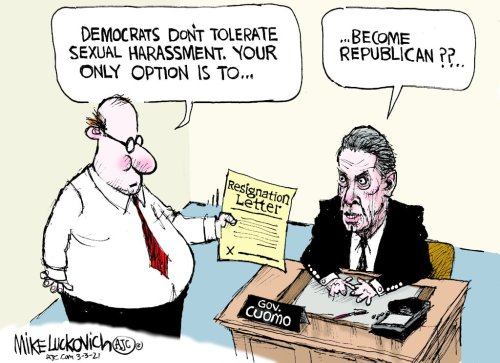 Cartoons: Andrew Cuomo refuses to resign over sexual harassment accusations