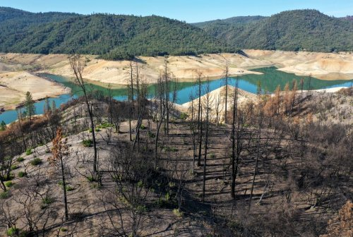 A Northern California reservoir is expected to fall so low that a hydro-power plant will shut down for first time