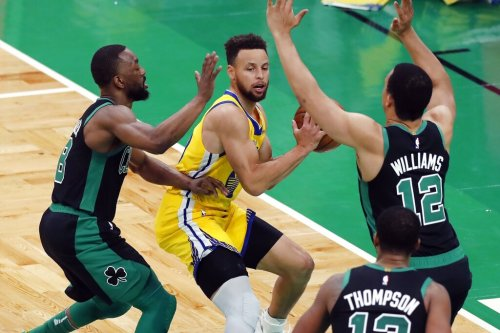 """It felt like a playoff game"": Steph Curry, Jayson Tatum trade baskets as Warriors fall to Celtics"