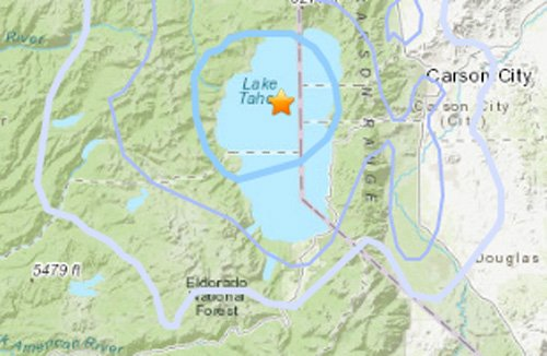 Map: 3.6 earthquake continues Lake Tahoe string