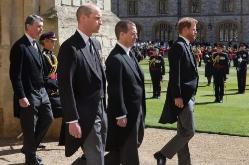 Have Harry and William made up? Brothers chat as they leave Philip's funeral