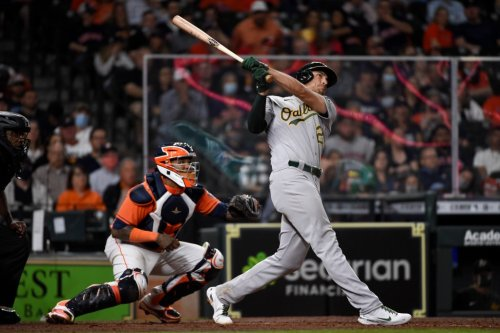 Matt Olson returns to A's lineup after thumb injury