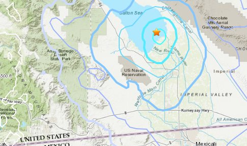 Map: Another earthquake cluster in Southern California