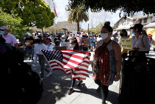 Photos: High school students organize march against Asian American hate