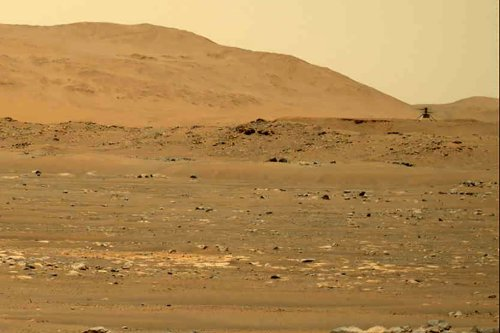 Listen: NASA helicopter flies through thin Martian air