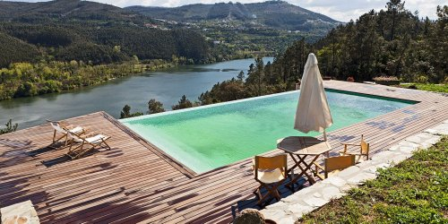 Relax in an Infinity Pool Overlooking the Douro River at This Rustic Airbnb in Portugal