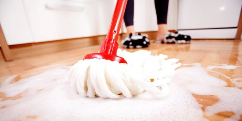 I Tried This Laundry Detergent Mopping Trick and My Kitchen Floors Have Never Sparkled More