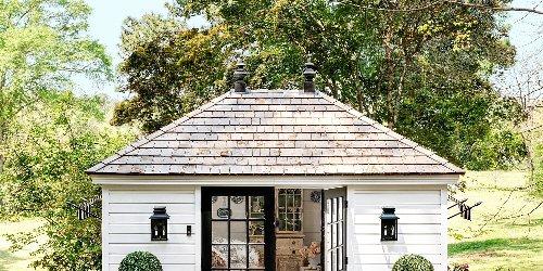 Pretty Meets Practical In Designer Allison Allen's Charming Backyard Garden House