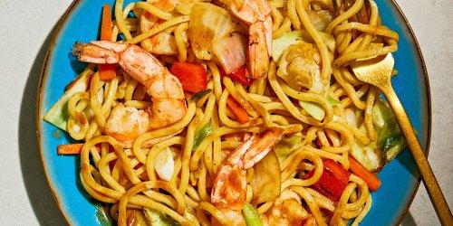 Ebi Yakisoba (Stir-Fried Noodles with Shrimp & Vegetables)