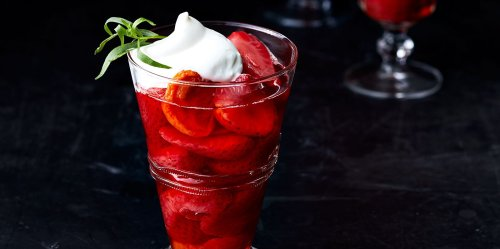 Wine-Poached Strawberries and Apricots