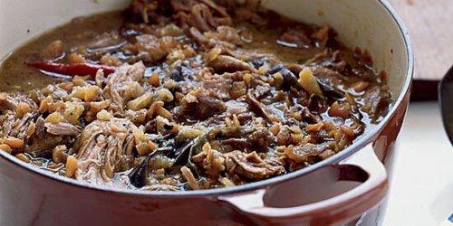 Iraqi Lamb and Eggplant Stew with Pitas Recipe