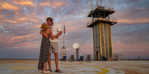 North Carolina Couple Becomes First To Get Married at Frying Pan Tower