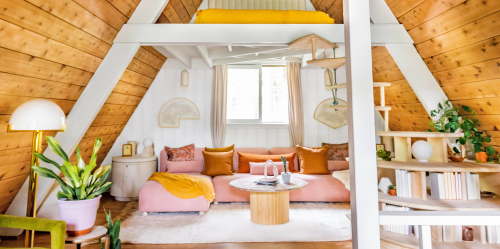 Space of the Week: A Retro A-Frame Turns Into a Cozy, Modern Family Retreat