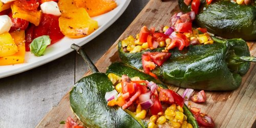 Grilled Stuffed Poblano Peppers Recipe