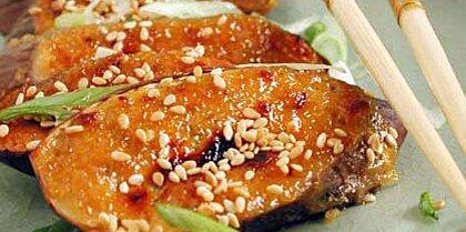 Miso-Garlic Broiled Eggplant Recipe