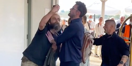 Ben Affleck Pushes Man Off of Him at the Airport as He Tries to Leave Venice with Jennifer Lopez
