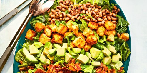 Southern Cobb Salad with Cornbread Croutons