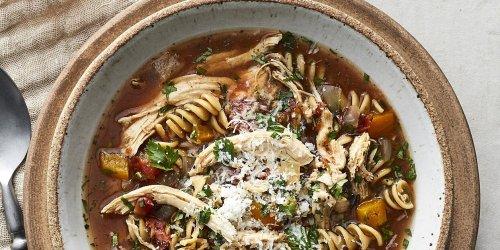 Mediterranean Slow-Cooker Chicken Noodle Soup