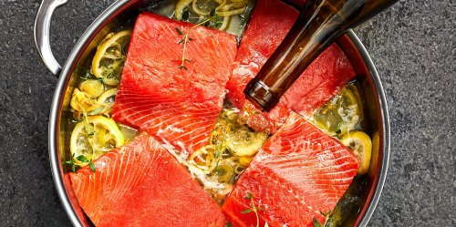 The Easiest Way to Cook Salmon? Pour a Glass of Wine