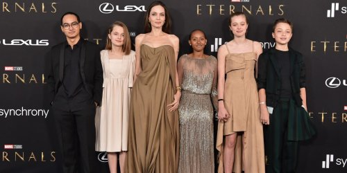 Angelina Jolie's Daughter Zahara Just Wore Her Mom's 2014 Oscars Dress