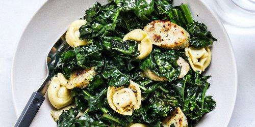 3-Ingredient Tortellini with Sausage & Kale