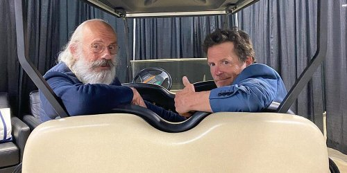 Michael J. Fox Reunites with His Back to the Future Costar Christopher Lloyd: 'Back to Back'