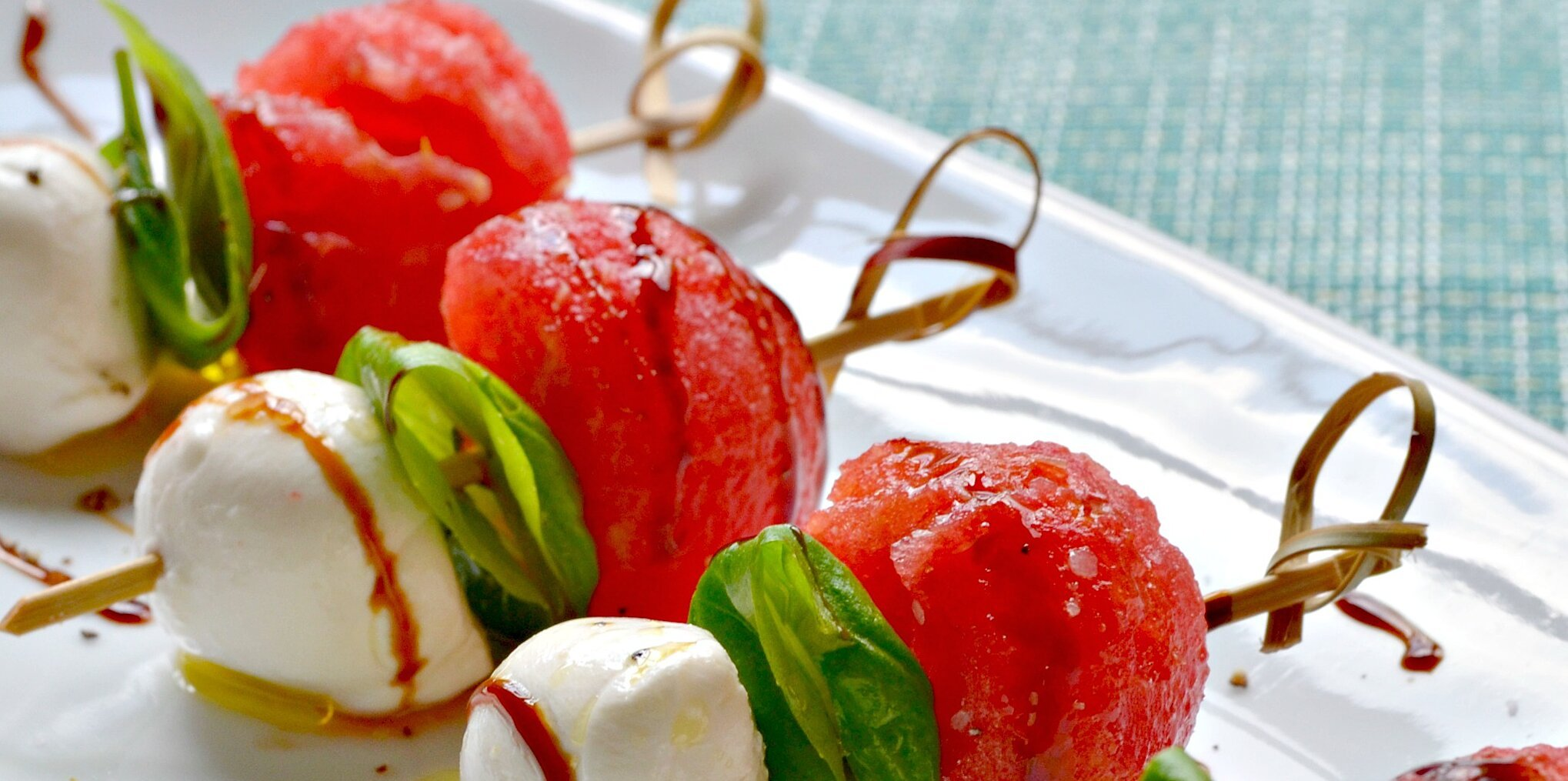 Watermelon Caprese Appetizer