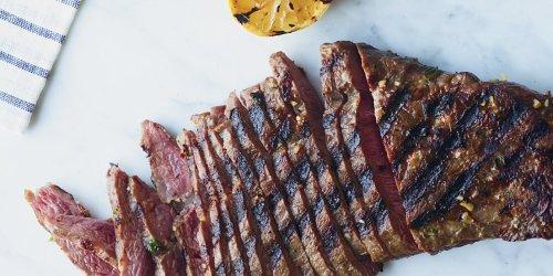 Lemon-and-Garlic-Marinated Flat Iron Steak Recipe