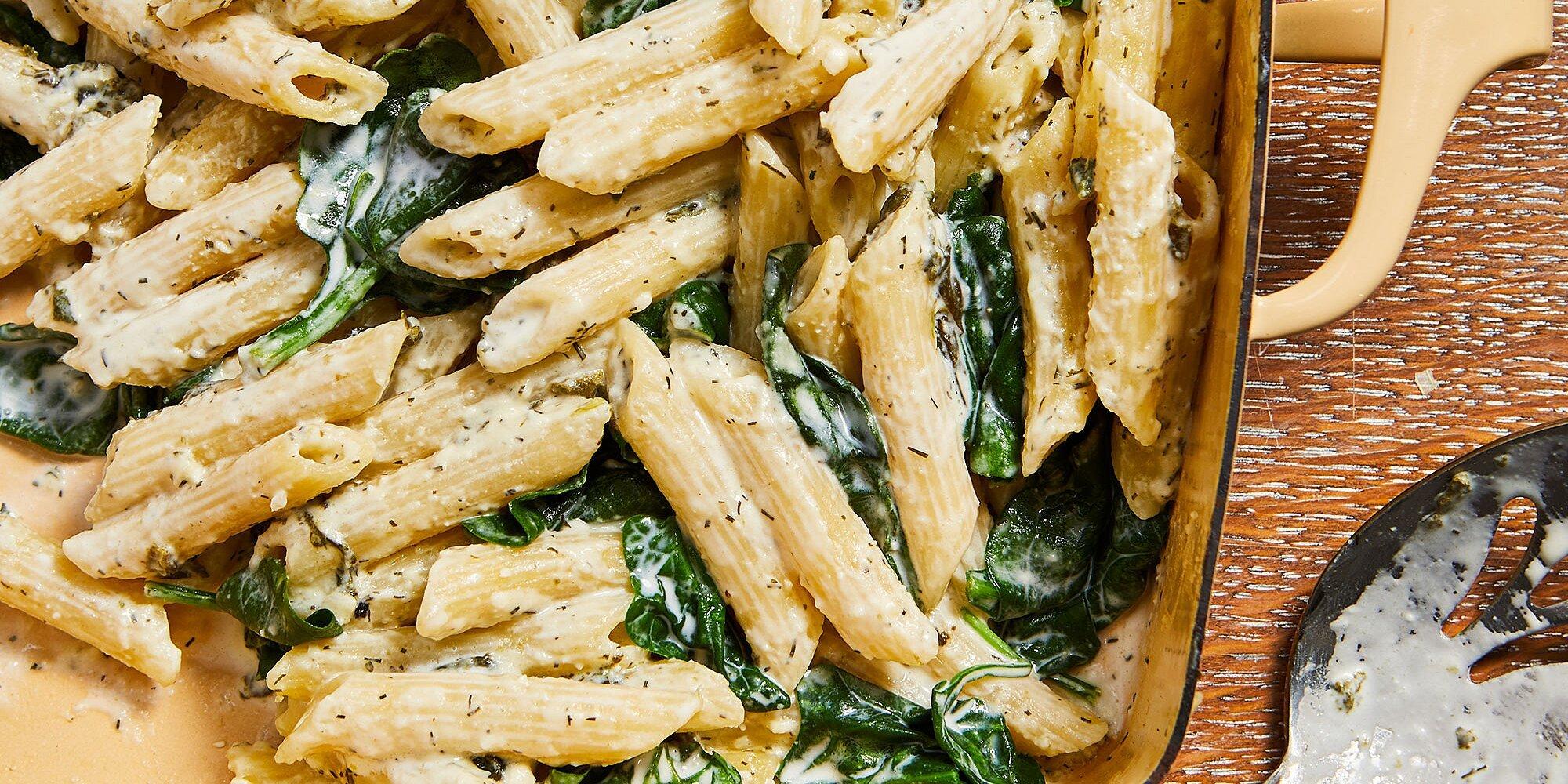 Baked Spinach & Feta Pasta