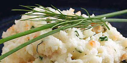 Smoked Salmon and Chive Mashed Potatoes Recipe
