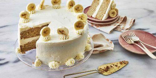 Bananas Foster Cake with Rum Buttercream Recipe