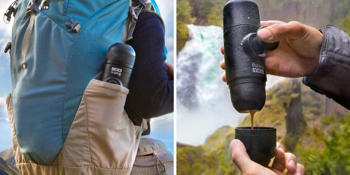 This Portable Coffee Machine Lets You Make 'Fantastic Smooth Espresso' Anywhere