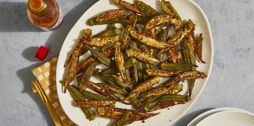 Simple Roasted Okra