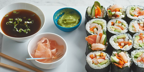 How to Make Your Own Sushi Rolls (Infographic)