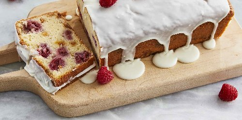 White Chocolate Raspberry Loaf Cake Recipe