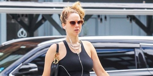 Pregnant Jennifer Lawrence Takes Growing Baby Bump for Afternoon Stroll Through N.Y.C.