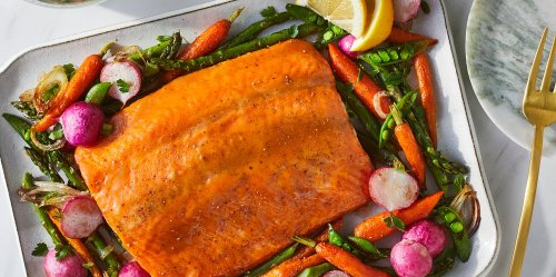 This Perfect Glazed Salmon Recipe Comes Together on One Sheet Pan
