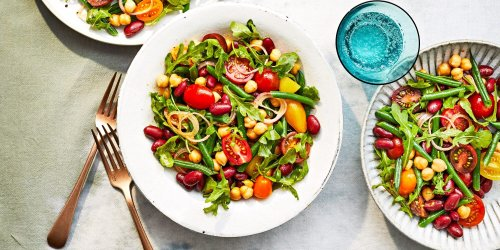 Three-Bean Salad with Tomatoes and Tangy Creole Dressing