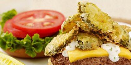 Vlasic® State Fair Fried Pickle Burger Recipe